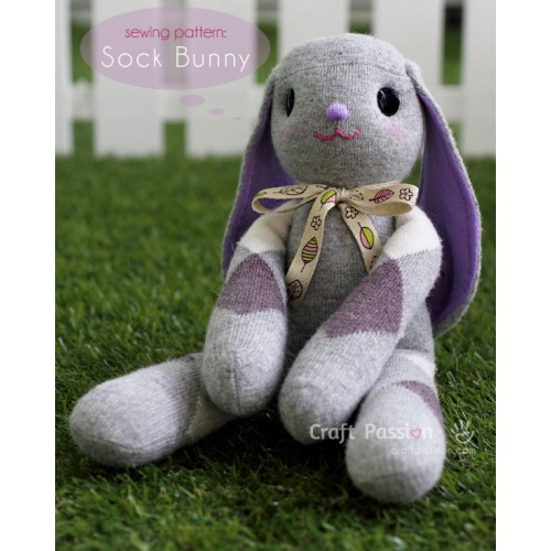 Sock Bunny (Lop-Eared) Kit - Free Gift With Purchase of Socks