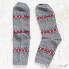 Tribal Grey Cotton Socks
