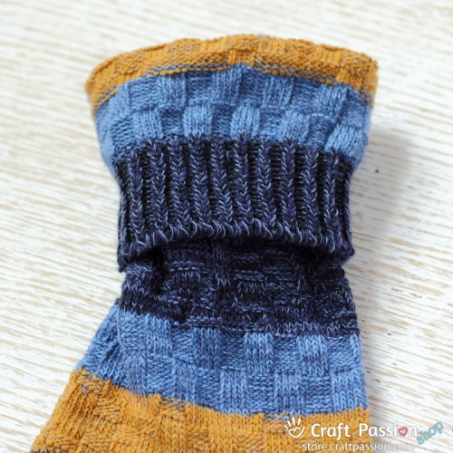 Wide Stripe Knitted Cotton Socks