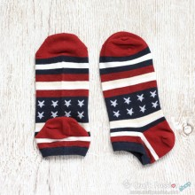 Cotton Ankle Socks - Americana Theme