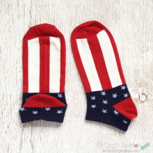 USA Flag Cotton Ankle Socks