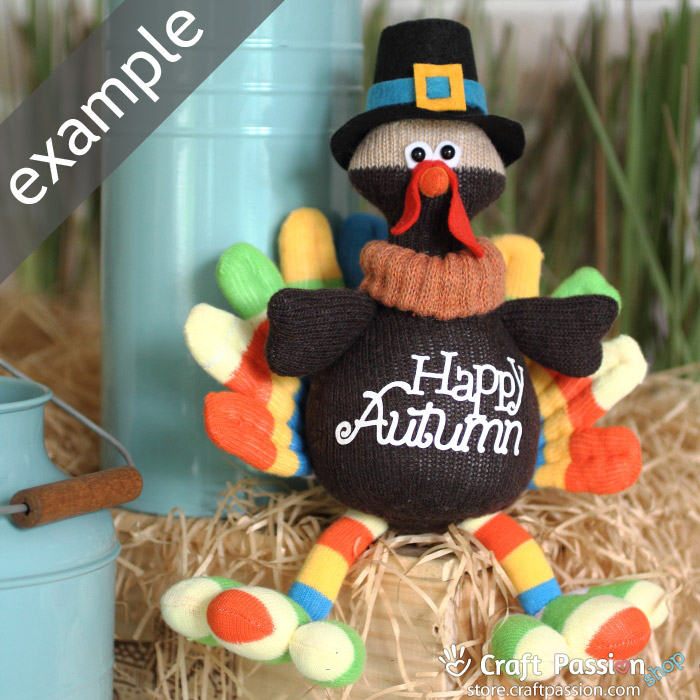 sock turkey doll