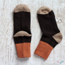 Folded Rib Wool Socks