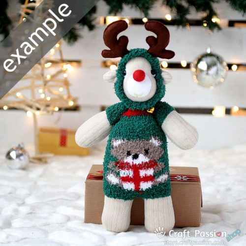 Chenille Microfiber Socks Set - Christmas Bear