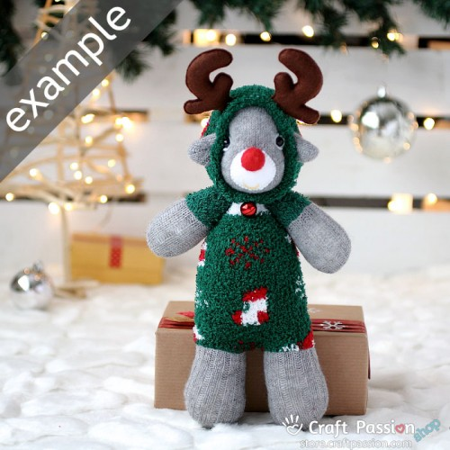 Chenille Microfiber Socks Set - Christmas Ornaments