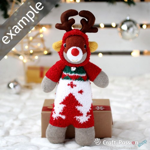 Chenille Microfiber Socks Set - Christmas Tree