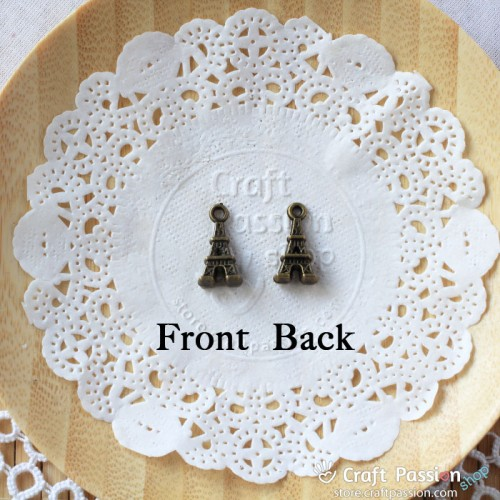 Eiffel Tower Charm A - small [ 2 pcs / pack ]