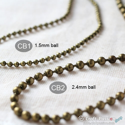 Ball Chain, CB - per 1/2 meter