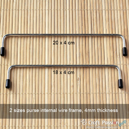 Internal Wire Purse Frame - 1 pair