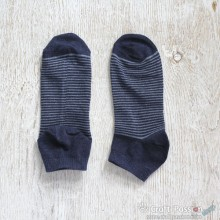 Stripes Ankle Socks - Denim Dark Blue