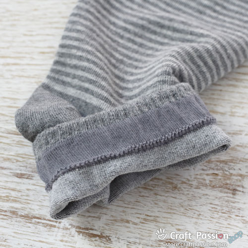 Stripes Ankle Socks - Denim Gray