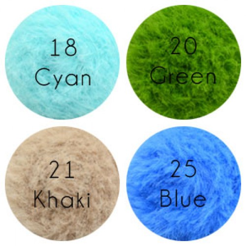 Eyelash Fur Yarn, 100g/ball, 13 colors