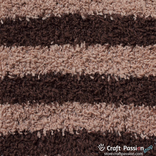 Chenille Microfiber Socks - Stripes - Brown/Khaki