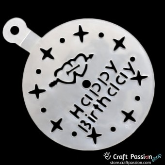 Cake Stencil - Happy Birthday