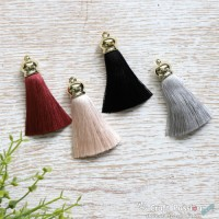 Silky Lush Tassel with Gold Crown Head - 1 pc